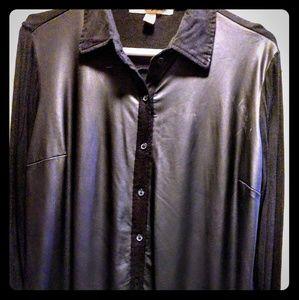 French Laundry Black on Black Shirt Size L